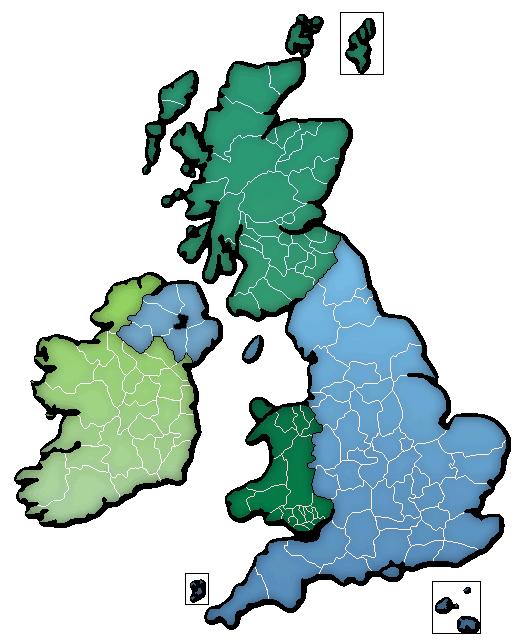 UK and Ireland Map